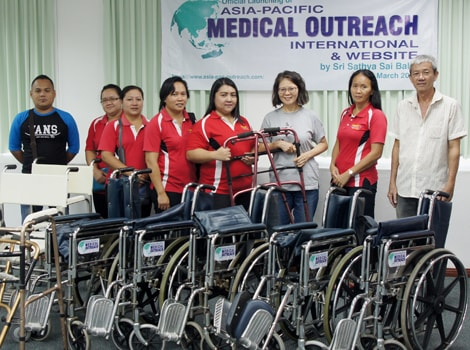 Donation of wheel chairs and commode chairs-min